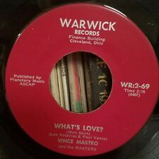 Vince Mastro | Popcorn Soul 45 | How Can I Tell Her / What's Love | Warwick 69