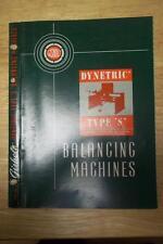Vtg Gisholt Machine Co Catalog~Dynetric Type S Balancing Machines ~ Brochure