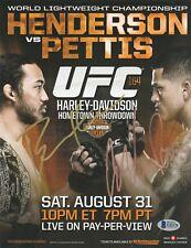 ANTHONY PETTIS BENSON HENDERSON SIGNED AUTO'D UFC 164 MINI POSTER BAS COA WEC 53