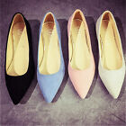 Womens Casual Boat Slip On Flats Loafer Ballet Dolly Pumps Lazy Shoes Work Shoes