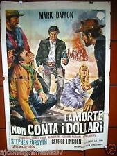 La Morte Non Conta i Dollari {Mark Damon} Italian 2F Movie Poster 1960s