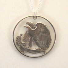 Walking Liberty Reverse with Rim, Cut-Out Coin Jewelry