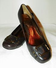 """NWOB! """"Rampage"""" Brown Wedge Heel Sip-On Shoes - Size 7M"""