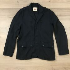 JAG Black Men's Jacket Size M Ribbed Cotton Fully Lined (BE18)