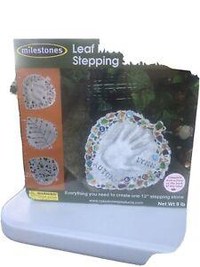 Mosaic Stepping Stone Kit Leaf Milestones NEW 601950114559 Free Shipping