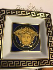 VERSACE ASH TRAY MEDUSA BLUE ROSENTHAL NEW in Box BEST GIFT IDEA