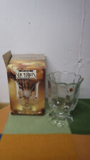 "Sheridan Imperial Crystal Rose Pattern 10"" Vase Bohemia Czechoslovakia New"