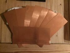 0.5mm Pure copper sheet plate 300mm X 100mm guillotione cut for model making