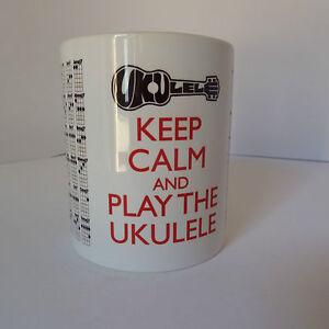 Ukulele Ukulele Chords Chart Mug Gift Keep Calm Brand New Personalised for free