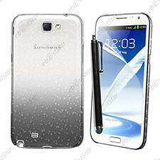 Housse Etui Coque Rigide Gouttelettes Noir Samsung Galaxy Note 2 N7100 + Stylet