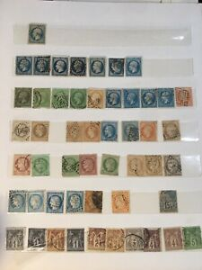 Lot de timbres classiques oblitérés avant 1900