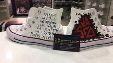 Converse all Star personalizzate disegnate con pittura Vasco Rossi 3