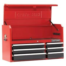 """Craftsman 41"""" 6 Drawer Soft-Close Top Chest Tools Tool Chest Mechanic Red/Black"""