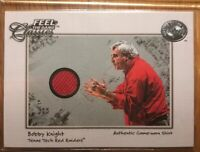 BOBBY KNIGHT Indiana 2001 FLEER GREATS OF THE GAME FEEL THE GAME Used Sweater