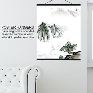 Holz Magnetische Posterschiene Posterleiste Posterhalter Plakathalter 21-80cm