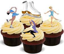 12 Novità Vaniglia stand up pattinare Mix Colorato Commestibili Wafer cake topper