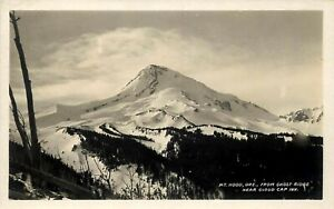 OREGON RPPC POSTCARD: SCENIC VIEW MT. HOOD GHOST RIDGE, NEAR CLOUD CAP INN, OR