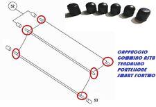 6X CAPPUCCI GOMMINO ASTA TENDALINO PORTELLONE SMART FORTWO 450 ANNO 1998/2007