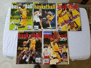 5 BECKETT BASKETBALL CARD MONTHLY KOBE BRYANT PRICE GUIDES 1998 - 2000 LAKERS