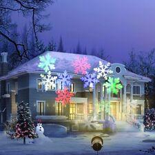 XMAS Outdoor Snowflake Laser LED Landscape Light Garden Holiday Projector UK MIX