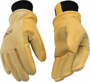 Kinco 901-L Men's Pigskin Leather Ski Glove, HeatKeep Thermal Lining, Large