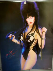 "Original 1986 Elvira Mistress of the Dark Cruely Yours Poster- 17""x22"" Rolled!"