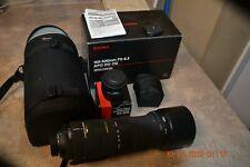 Sigma DG 150-500 mm 1:5-6.3 APO HSM plus Sigma APO 2x tele converter EX DG