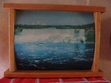 Vintage Niagara Falls Wood Framed Light Up Picture TV Lamp