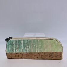 Ecotools Make-up Brush Travel Bag/Case Zipper Cork Bottom Elastic Straps