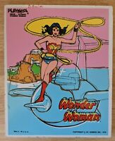 Vintage 1976 WONDER WOMAN PLAYSKOOL 16 Piece Tray Puzzle Complete DC Comics