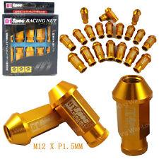 GOLD JDM WHEEL LUG NUT FOR HONDA ACURA INTEGRA M12X1.5MM 20PCS L:50MM