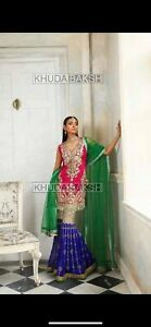 Brand New Pakistani Asian Style Party Wear Wedding Dress with Dupatta 3 pcs