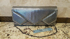 """KATE LANDRY:Beautiful Silver Evening Bag 6""""Hx11""""Wx 1.25""""D NWT MSRP $75.00"""