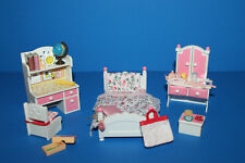 Calico Critters Girls Pink & White Bedroom Furniture