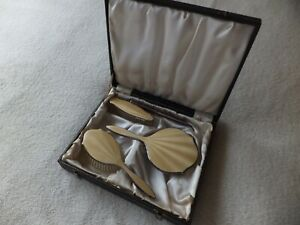 Vintage 4 Guilloche Vanity / Dressing Table Set Boxed