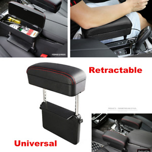 Retractable Car Central Console Armrest Box PU Storage Case Car Accessories