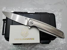 custom made rare specter m390 steel blade titanium flipper tactical pocket knife