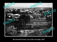 LARGE OLD HISTORICAL PHOTO OF BEECHWORTH VICTORIA VIEW OF THE TOWNSHIP c1895