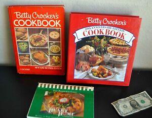 TWO BETTY CROCKER COOKBOOK CLASSICS!  1991 40th Anniversary & 1978 New Revised