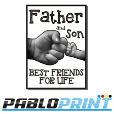 Fathers Day Gift Dad Daddy Stepdad Personalised A4 PRINT Father and Son