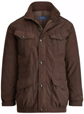 Polo Ralph Lauren Modern Military Field Jacket Parka Rain & Windproof Brown