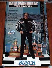 Dale Earnhardt True Champion 1996 Busch Beer Poster - NMNT
