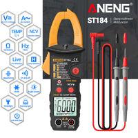 True RMS Digital Multimeter Clamp Meter DC/AC Voltage Detector Ohmmeter Tester