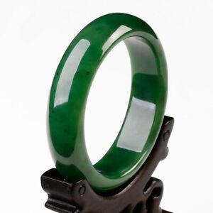Female beautiful AAA 54mm-65mm bangle Chinese Green jade hand-carved bracelet
