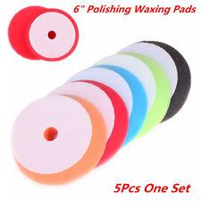"Universal 5Pcs 6"" Sponge Polishing Waxing Buffing Pads Kit For Auto Car Polisher"