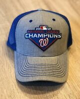 2019 WASHINGTON NATIONALS NATIONAL LEAGUE CHAMPIONS Patch Cap Hat World Series
