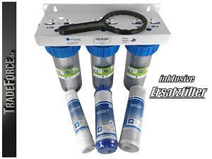 3-fach solider Trinkwasserfilter Wasserfilter Vorfilter Brunnen 10'' Zoll 3/4 IG
