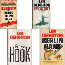 LOT 4 Len Deighton BERLIN GAME SPY HOOK STORY BILLION DOLLAR BRAIN mlh