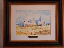 Superbe aquarelle orientaliste originale signée et datée Djerba Aghir