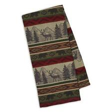 (1) Back Country Jacquard Woven Cotton Kitchen Towel Rustic Cabin Decor